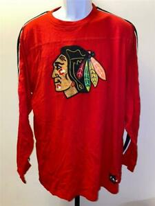 New Chicago Blackhawks Mens Size XL Red Long Sleeve Shirt