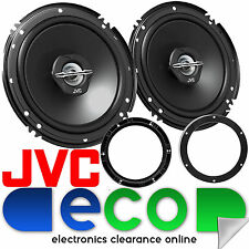 VW Polo 2001-2009 JVC 16cm 6.5 Inch 600 Watts 2 Way Rear Door Car Speakers