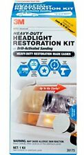 3M 39175 Heavy Duty Headlight Restoration Kit (with Quick Clear Coat), 1 Pack