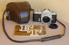 Nikon Nikkormat FT SLR camera body with case & manual classic 1960s film camera
