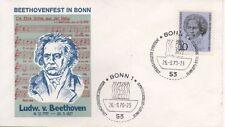 Ungeprüfte Briefmarken aus der BRD (1970-1979) mit Sonderstempel