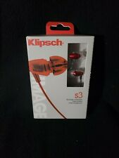 Klipsch Image S3 Noise Isolating In Ear Headphones Red New & Sealed