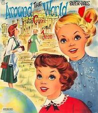 VINTGE 1958 AROUND WORLD CONNIE JEAN PAPER DOLL HD LASER REPRO~LO PRICE~HI QUA