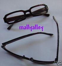 Brand New Brown Black STRIPED Reading Glasses 2.50 Rectangular Chunky Readers