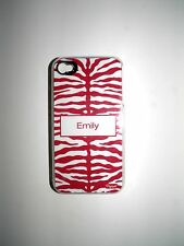 "PERSONALIZED NAME COVER FOR IPHONE 4/4S WITH 2 LAYERS ""EMILY"" NEW"