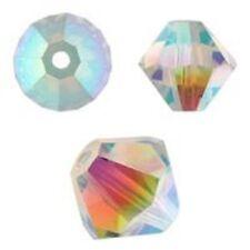 Genuine Swarovski Crystal Bicone. Light Sapphire AB 2X  4mm. Approx. 144 PCS.