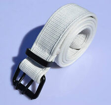 2 loop iron buckle thick body unisex 100% cotton canvas belts 9 Color  b003