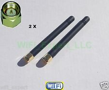 "2 x HIGH GAIN 2dBi 900/1800 MHz SMA Male Plug Straight GSM GPRS Antenna 3"" USA"