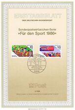 RFA 1986: Matériel sportif! Enveloppe premier jour N° 1269+1270! 1A