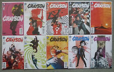 GRAYSON #1-10 SET..TIM SEELEY..TOM KING..DC NEW 52 2014 1ST PRINT..VFN+..BATMAN