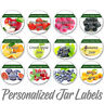 JAM JELLY PERSONALIZED MASON JAR LID BOTTLE KITCHEN FOOD STICKLERS LABELS