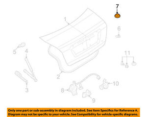 FORD OEM Trunk Lid-Plug F1CZ5822004A