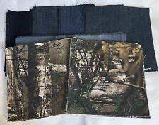 160 Total Pieces 5� 70 Squares RealTree Camo Denim & 90 Blue Jean Rag Quilt Kit