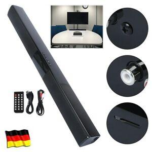 Bluetooth 4.0 Soundbar Lautsprecher TV PC Heimkino 3D Bass Fernsehen Subwoofer