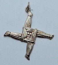 .925 Sterling Silver St Brigid Cross Pendant, Charm 2.2 g,  Made in Ireland!