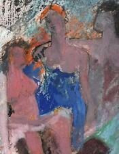 ABSTRACT FEMALE NUDES Watercolour Painting c1970 MODERNISM