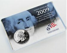 """2009 Mint Replacement Box for Clad Quarter Proof Set with COA & LENS, """"0"""" Coins"""