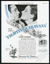 1931 Gary Cooper Lily Damita photo Fighting Caravans movie vintage print ad