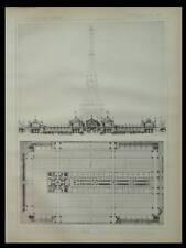 PARIS, EXPOSITION UNIVERSELLE 1889, TOUR EIFFEL - PLANCHE 1886- DE PERTHES