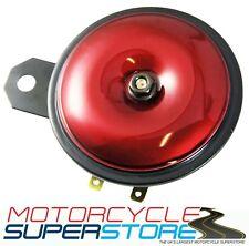 Universal fuerte reemplazo 12v Motocicleta Moto Rojo Cuerno 110db