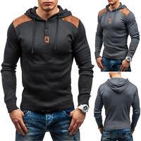 Mens Slim Athletic Sports Muscle Hoodies T-shirt Tops Hooded Long Sleeve Blouse