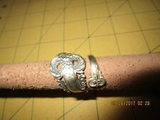 STERLING SILVER Spoon Ring ornate by pass  band Jewelry Size 8.5 camusso
