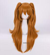 Neon Genesis Evangelion Soryu Asuka Langley Long Orange Cosplay Wig + Wig Cap