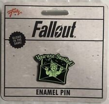 """Fallout """"You Are Invited"""" Glow In The Dark Enamel Collector Pin"""