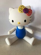 """Hello Kitty 13"""" White Plastic Doll With Blue Tank Top On"""