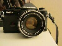 Olympus OM-2S SLR 35mm film Camera& Olympus 50mm 1:1.8 Auto-s
