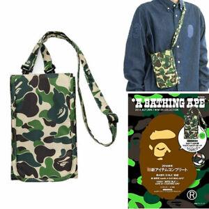 A Bathing Ape Bape Bag Shoulder Crossbody Bag Green Camo Wallet Purse