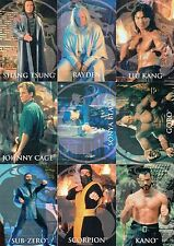 MORTAL KOMBAT MOVIE 1995 SKYBOX COMPLETE BASE CARD SET OF 90