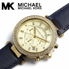 Michael Kors Ladies Parker Leather Strap Watch MK2280