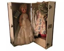 "Vintage 1950's Baby Boomer 20"" Vinyl Bride Doll Trunk Clothes 14R Royal"