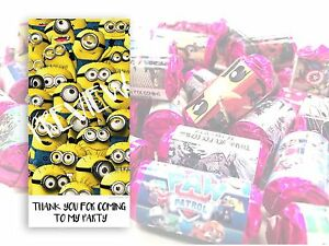 Minions Mini Love Hearts Sweets Party Bag Fillers Kids Childrens Thank you #3