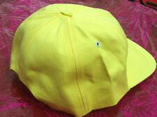 Three -Yellow Cotton Baseball Cap Onesize Adult - Make good Uniform or Decorated