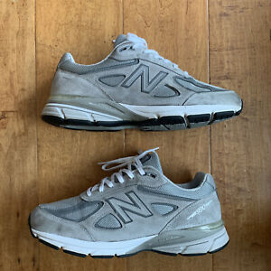 New Balance 990v4 Made in USA- Mens- Size 10 - 4E Gray- Running Shoes