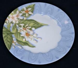 "Limoges Laure Japy ALHAMBRA Light Blue Rim, Fruit, Bread Plate 6 1/8"""