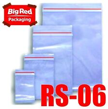 6000 x Resealable Zip Lock Plastic Bags 150mm x 230mm
