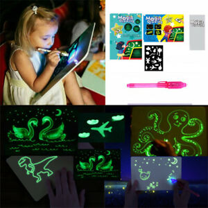 New Draw With Light Fun And Developing Toy Drawing Board Magic Draw Educational.