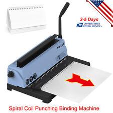 34 Square Holes Spiral Coil Calendar Binding Machine Punching Binding Machine US