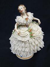 Capodimonte Italian Porcelain Figurine Lady with lace Skirt Lot 423
