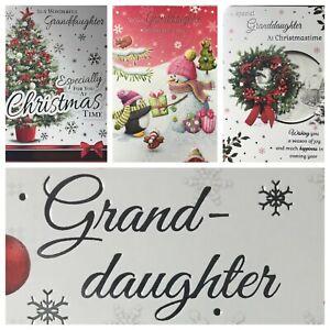 "GRANDDAUGHTER CHRISTMAS CARD   5.5""x7.5""   (XMAS10)"