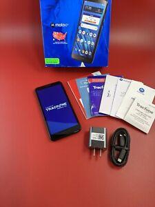 TRACFONE - Motorola Moto E6 with 16GB Memory Prepaid Cell Phone - Starry Black