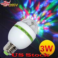 E27 AC85V-265V Wide Voltage LED Party Lights 3W Colorful Bulbs DJ Light Show US