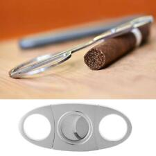 Stainless Steel Pocket Cigar Cutter 2 Double Blades Scissors Shears Potable
