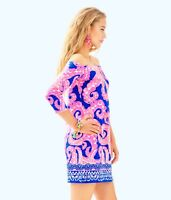 "NWT $168 LILLY PULITZER Size XS Laurana Dress ""Ikat Blue Mocean"""