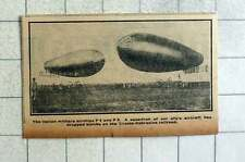 1915 Italian Military Airships P4 And P5 Dropping Bombs On Trieste Railroad