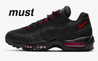 "Nike Air Max 95 "" Black/Dark Smoke Grey/Red"" Men's Trainers All Sizes"