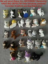 BIG DEFECTS! LOT 20pcs Different MEG Kitty In My Pocket Flocked Loose Figures